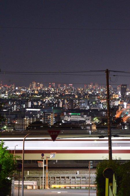 【近鉄奈良線】大阪市内の夜景を見下ろせる場所 大阪難波から石切駅までたったの20分