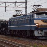 シキ800 返却回送が行われる EF66-27が牽引 京都鉄道博物館での展示終了で