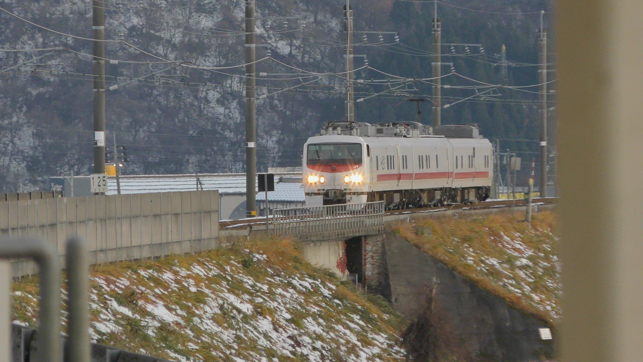 イーストアイ(East i-E)E491系北越急行ほくほく線とえちごトキめき鉄道を検測しながら走行