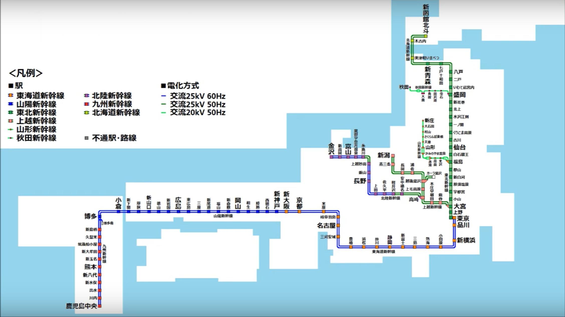 【1964年~2020年】日本全国の新幹線の路線網の歴史をまとめてみた