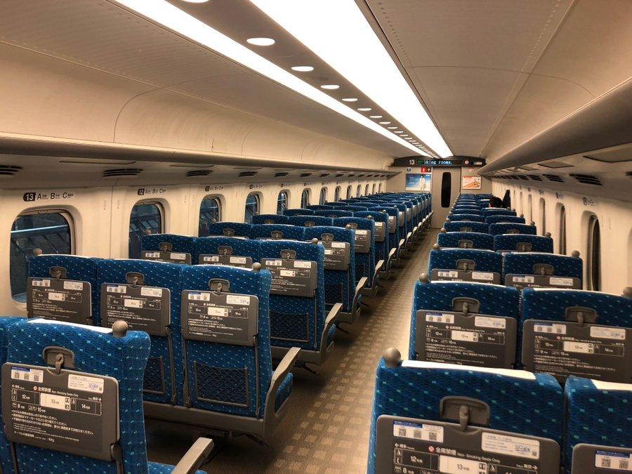 新型コロナウイルスの影響? 東海道新幹線がガラガラに