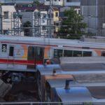 【車止めに激突】山陽電車5000系(5703F)リニューアル車が阪神尼崎車庫で脱線事故