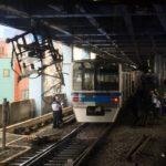 京成青砥駅で脱線事故 パンタグラフが大破 当該は北総7818編成