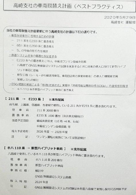 【高崎支社SL・機関車全廃】京浜東北線新車導入に伴う既存車両の転属先は211系か 高崎線特急651系は成田エクスプレスに置き換え