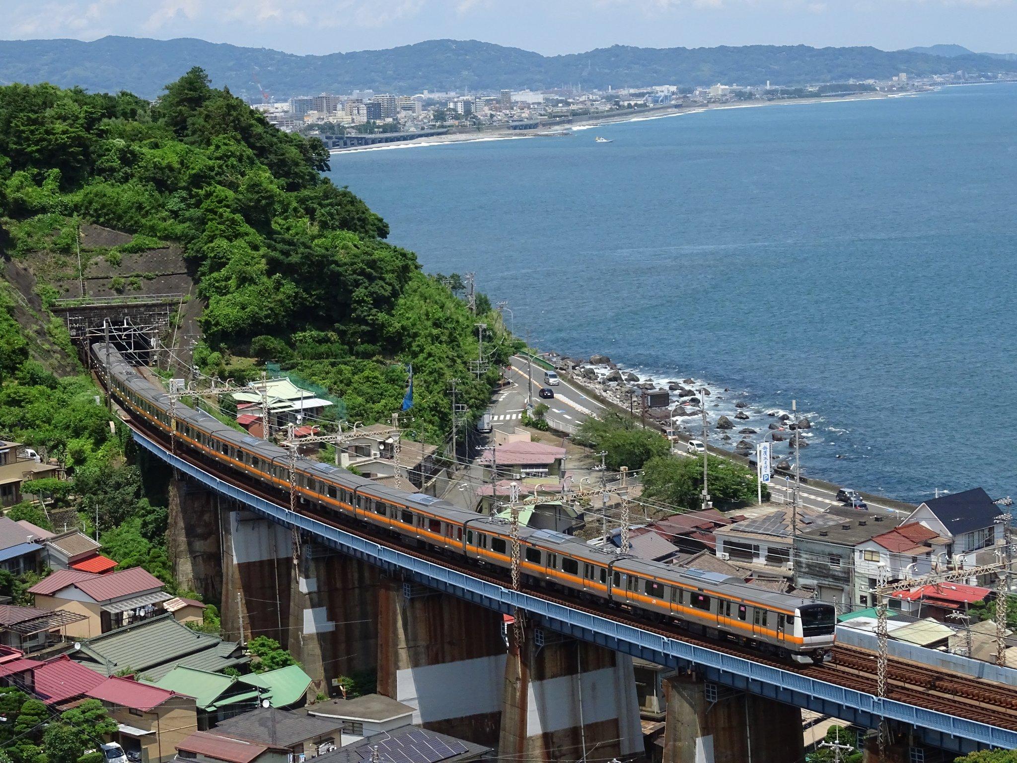 【不具合か?】E233系0番台T71編成が根府川に入線 東海道線内で試運転