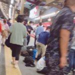 【迷惑撮り鉄のせいでホームから出れない】名鉄東岡崎駅にEL120撮影のために集結  一般の乗客から不満が噴出