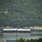 【N700S】瀬戸内海を走る 日立笠戸製作所から大阪港へ海上輸送
