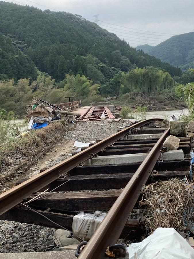 【JR九州被害状況】第二球磨川橋梁含め4鉄橋が流失 多数箇所で土砂流入が 復旧の目処は立たず