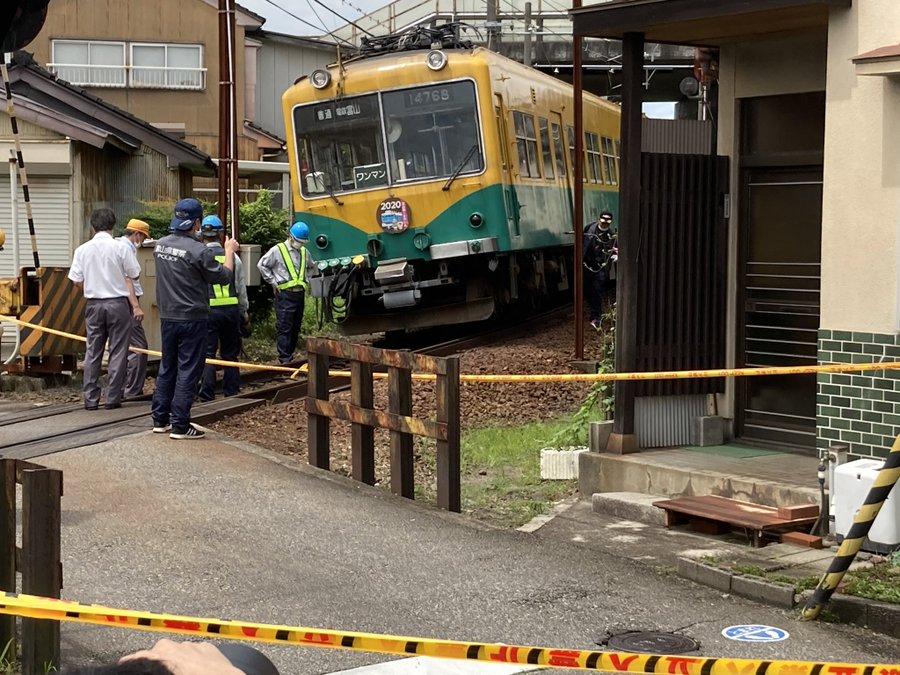 【スカートが大きく変形】富山地方鉄道が脱線事故で運転見合わせ 以前から保線不十分は指摘されていた