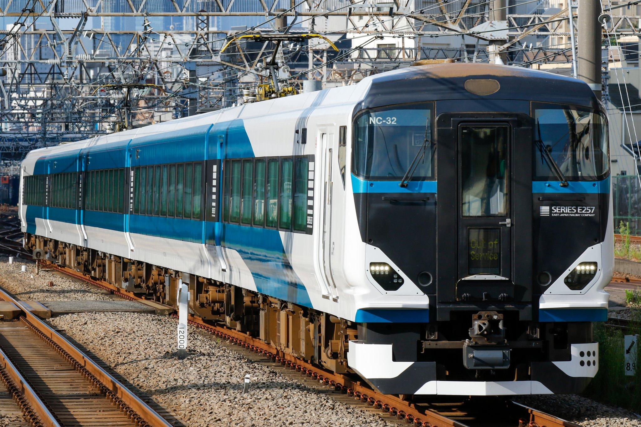 【日中の本線走行は初】E257系2500番台NC-32編成 伊豆箱根鉄道駿豆線から返却回送