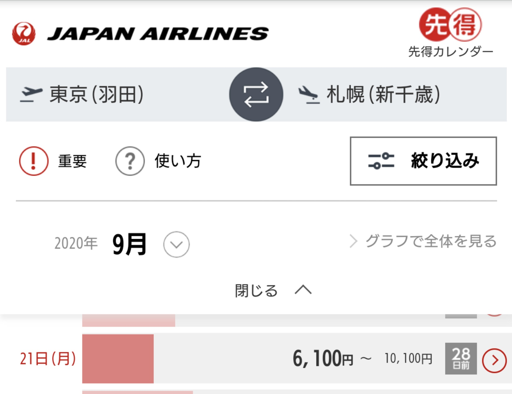 【激安】JALがコロナへの特別対応として割引運賃も含め取消手数料が無料に 東京-札幌が最安6100円でLCCに負けず劣らない破格 マイルが溜まるキャンペーンも