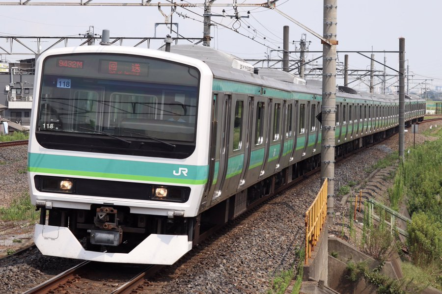 【E231系マト118編成】長野(NN)に入場回送 武蔵野線転属のための改造か?