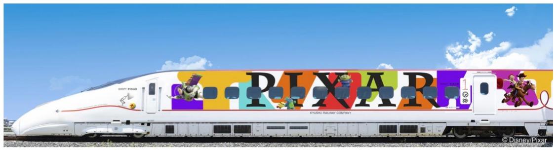 【JR九州新幹線】「ピクサー新幹線」運転 トイストーリーのラッピングが800系に 博多~熊本~鹿児島中央で運転