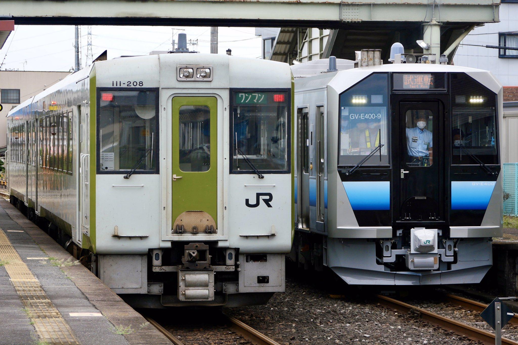 【八高線で新システム導入準備】秋田車GV-E400-9が八高線で試運転 踏切制御システムの試験 キハ110系はどうなるのか