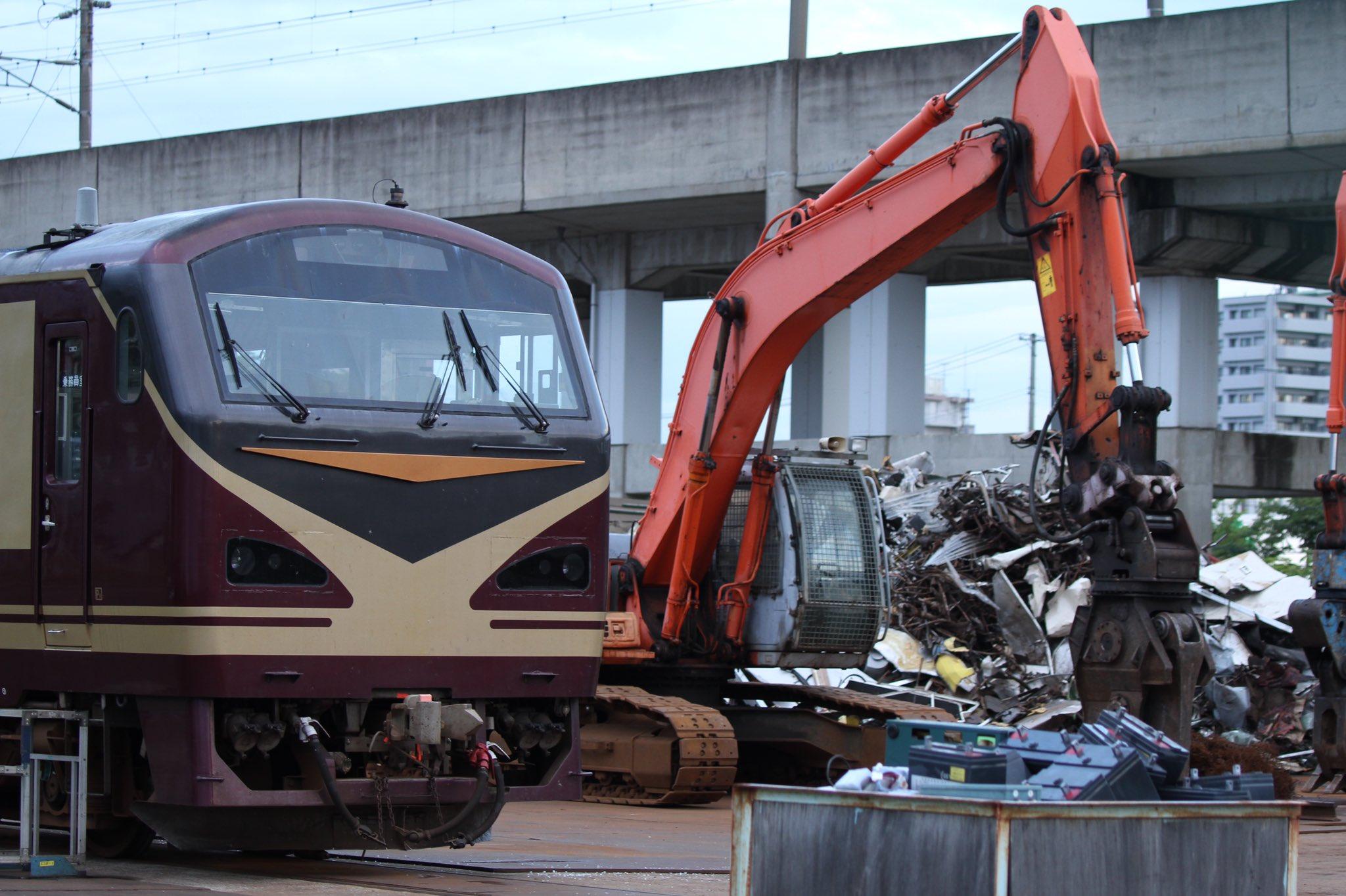 【引退から1ヶ月で解体】リゾートみのりキハ48-546が只見線キハ40-2141と連結し郡山車両センターの解体場に入る