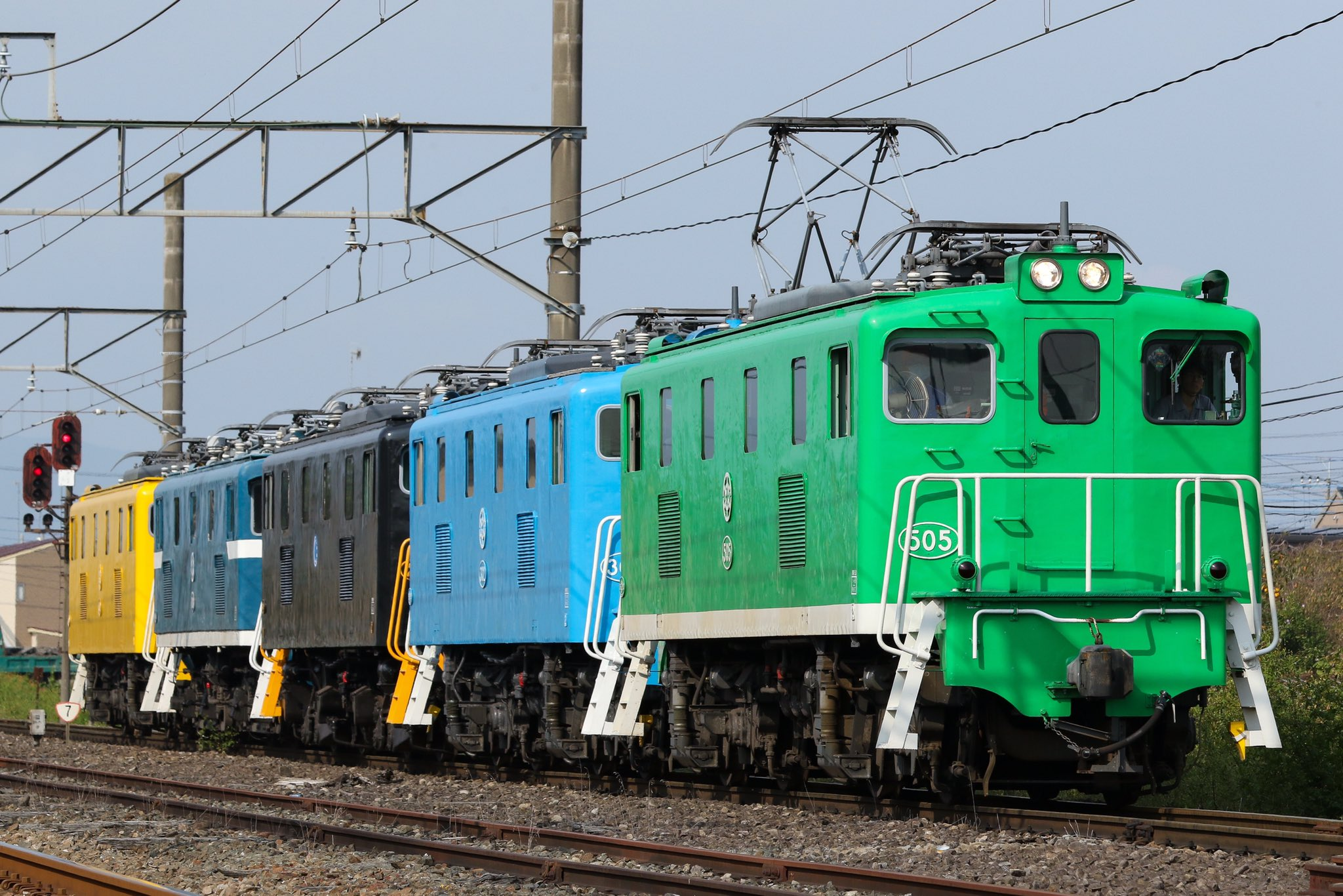 【カラフル5色】秩父鉄道デキ5重単 熊谷貨物ターミナルに回送
