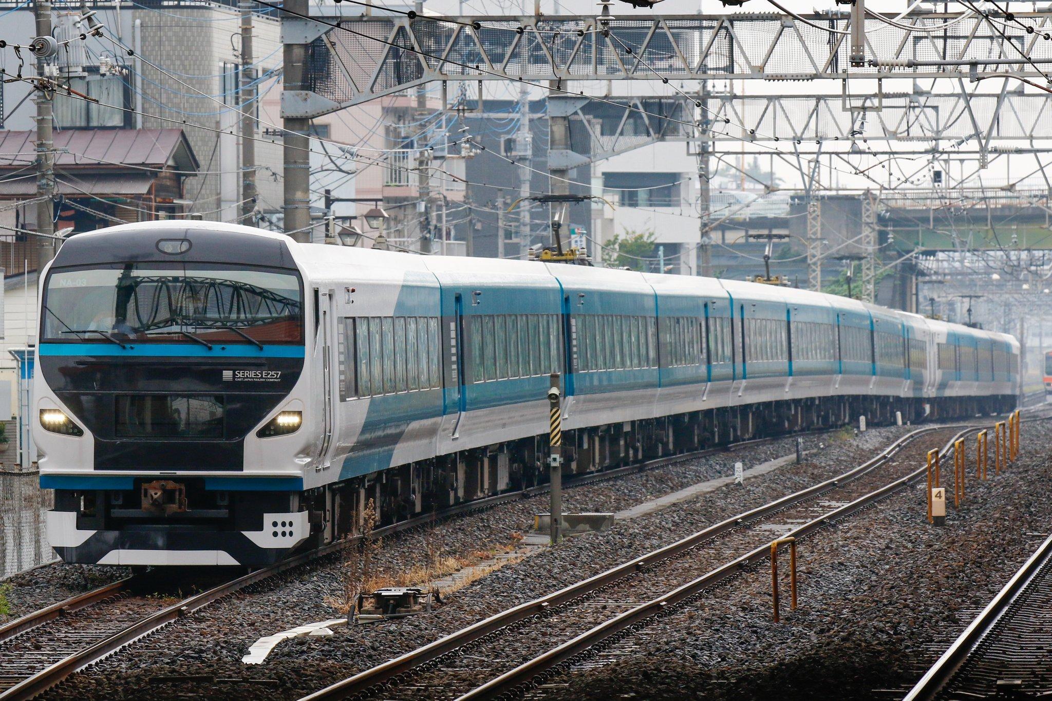 【ついに14両に】踊り子E257系がNA-03編成+NC-32編成で東北本線を試運転 185系置き換えに向けての準備