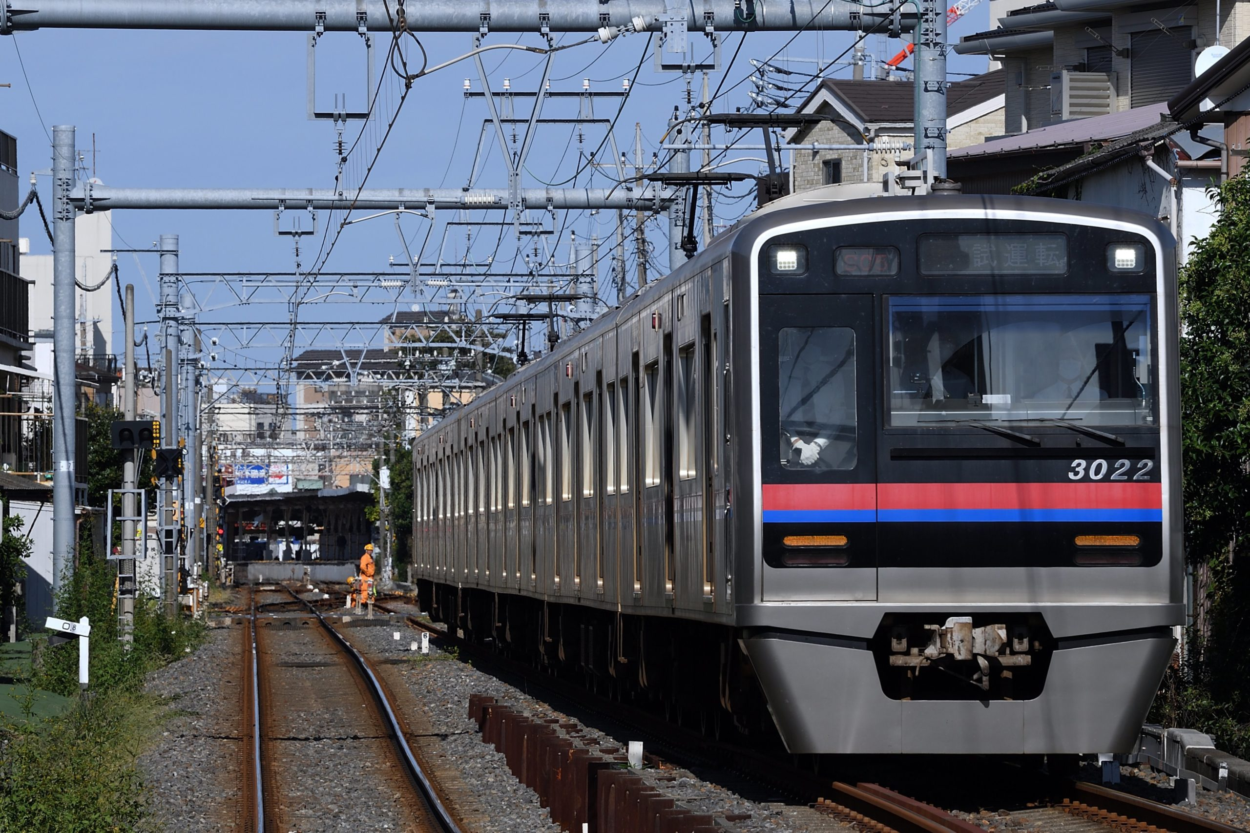 【驚愕】京成3000形6両編成が金町線に初入線 一体何を計画しているのか