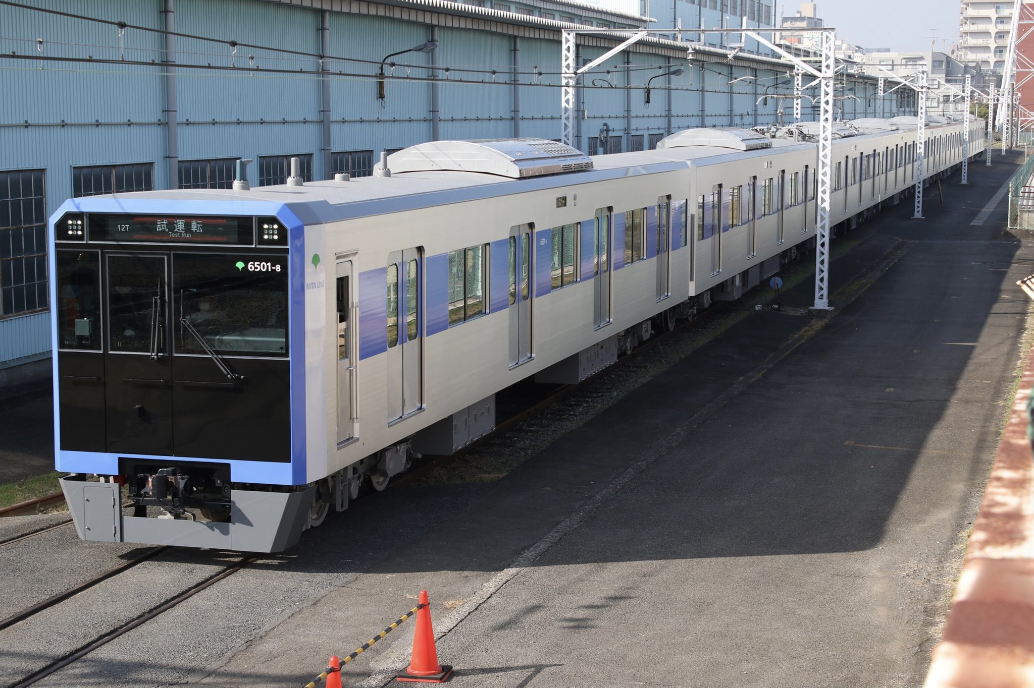 【都営の電子レンジ】三田線6500形6501Fが構内試運転