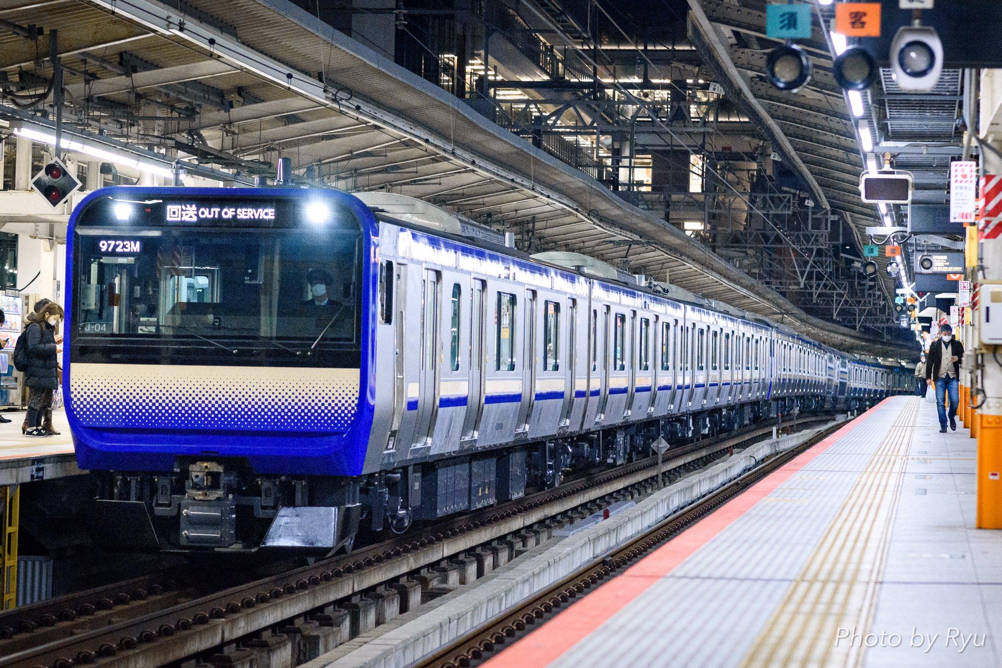 E235系1000番台J-04+F-04編成 幕張から鎌倉に疎開返却回送 営業運転開始か 運用は?