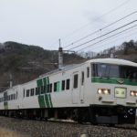 【唯一のシングルアーム車】185系OM03編成が長野に回送 廃車を心配する声も