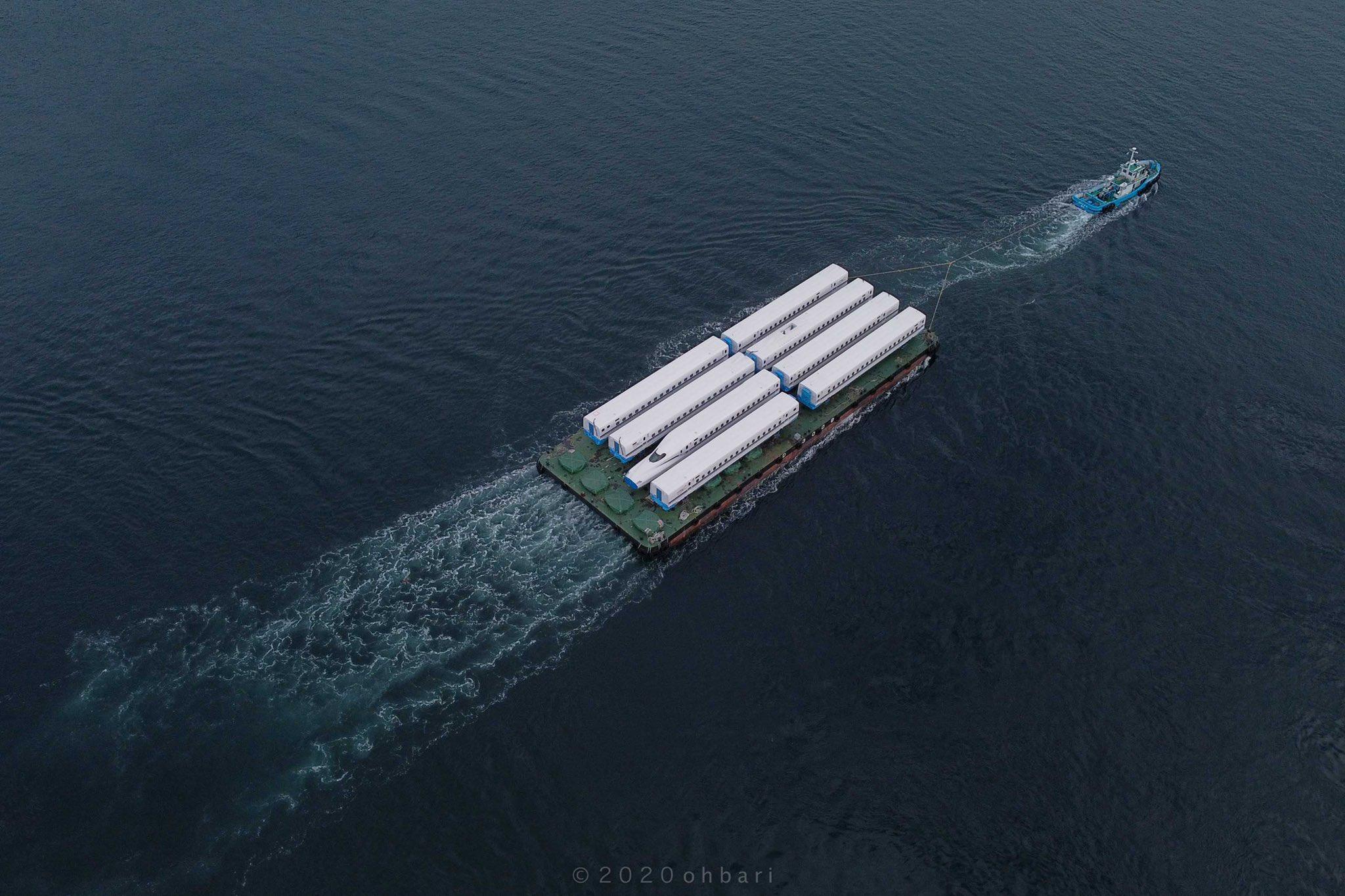 東海道新幹線N700S J10編成が海上輸送&陸送 2020年度最後の増備