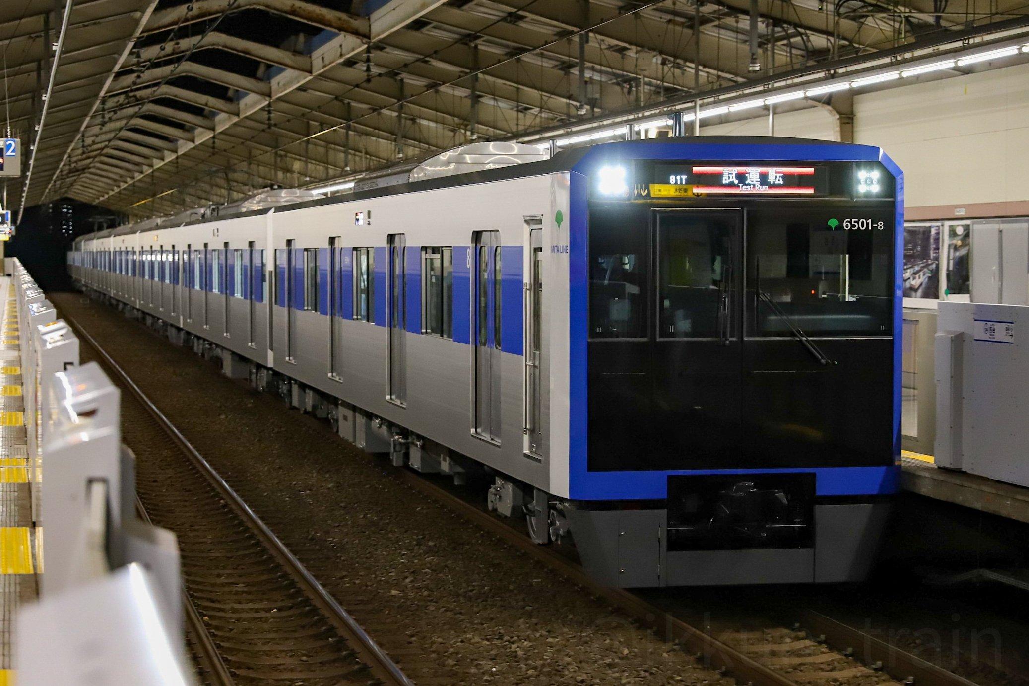 【都営三田線】新型6500形6501Fが本線で試運転