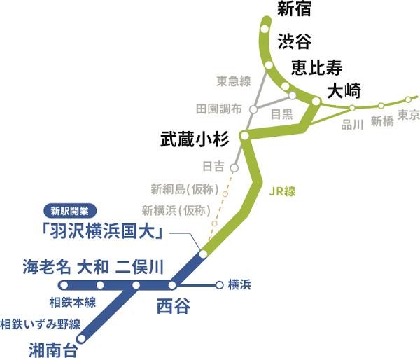 """相鉄""""JR直通""""線 埼京・川越線との「直通運転」を拡大"""