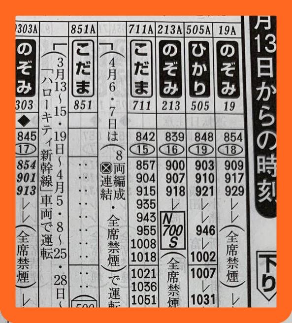 JR東海、N700Sダイヤ・時刻表公開へ 3月13日のダイヤ改正から