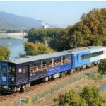 JR西日本、京都鉄博でJR四国「藍よしのがわトロッコ」を特別展示
