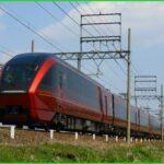 ひのとり最終編成近鉄80000系HV14の陸送が行われる