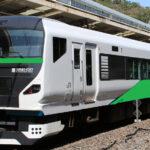 E257系5500番台OM-52編成(元NB-09編成)が登場 緑色の踊り子