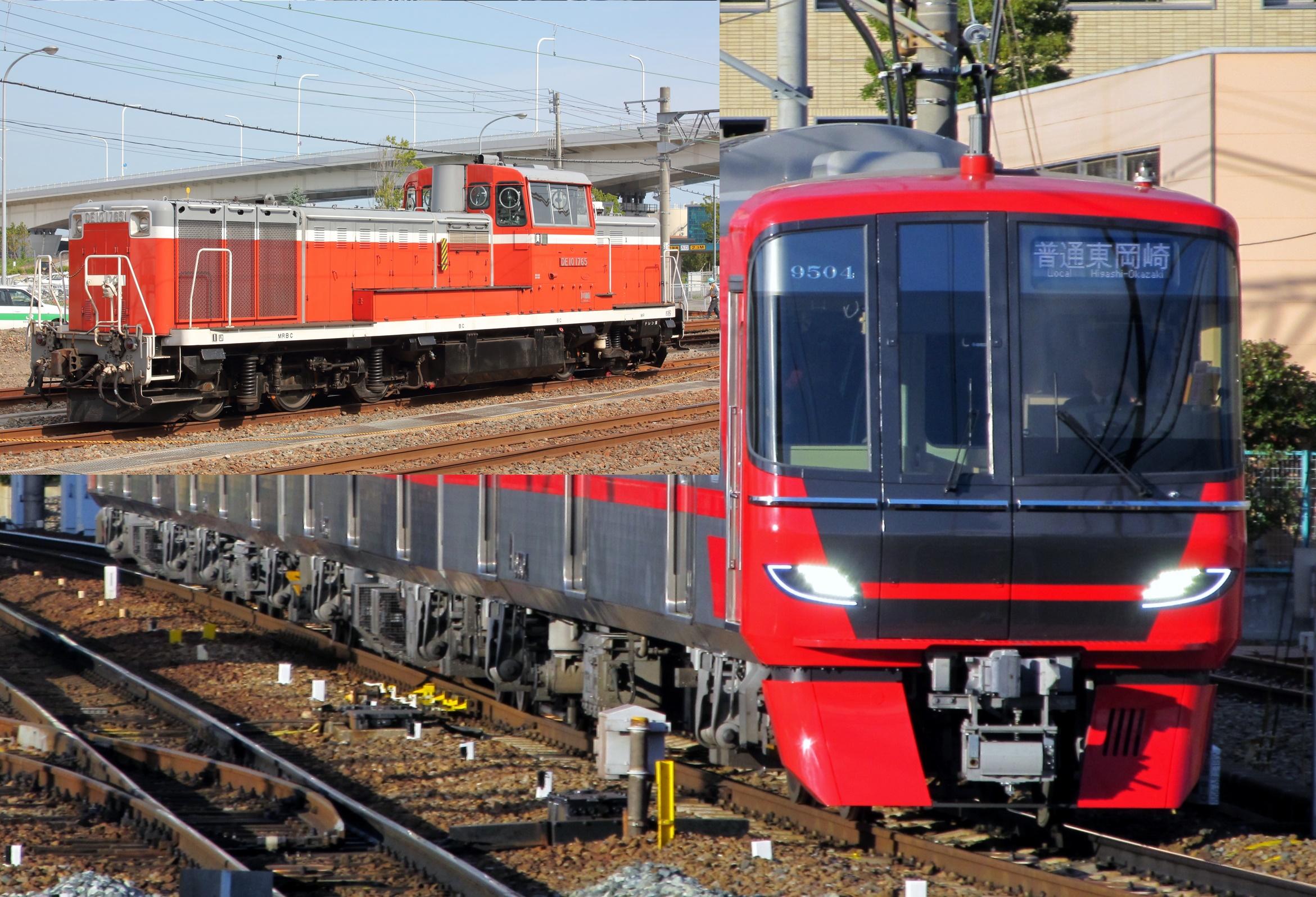 【日車甲種輸送】名鉄9500系9506F・9100系2編成9105F・9106F