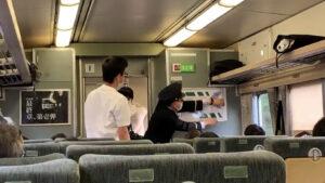 鉄道ファンが185系臨時列車で広告枠無断使用 自作ポスターへ勝手に張り替え 盗用も
