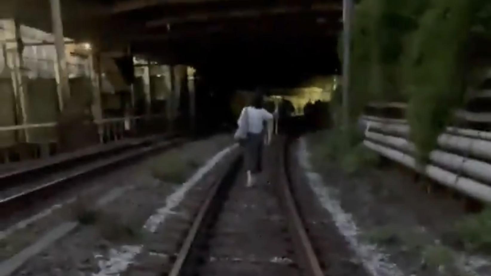 【変電所故障】車内に取り残されていた乗客が山手線の線路を歩くことに