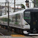 【初のE257系5000番台か】2021年8月「特急さざなみ」臨時列車運転