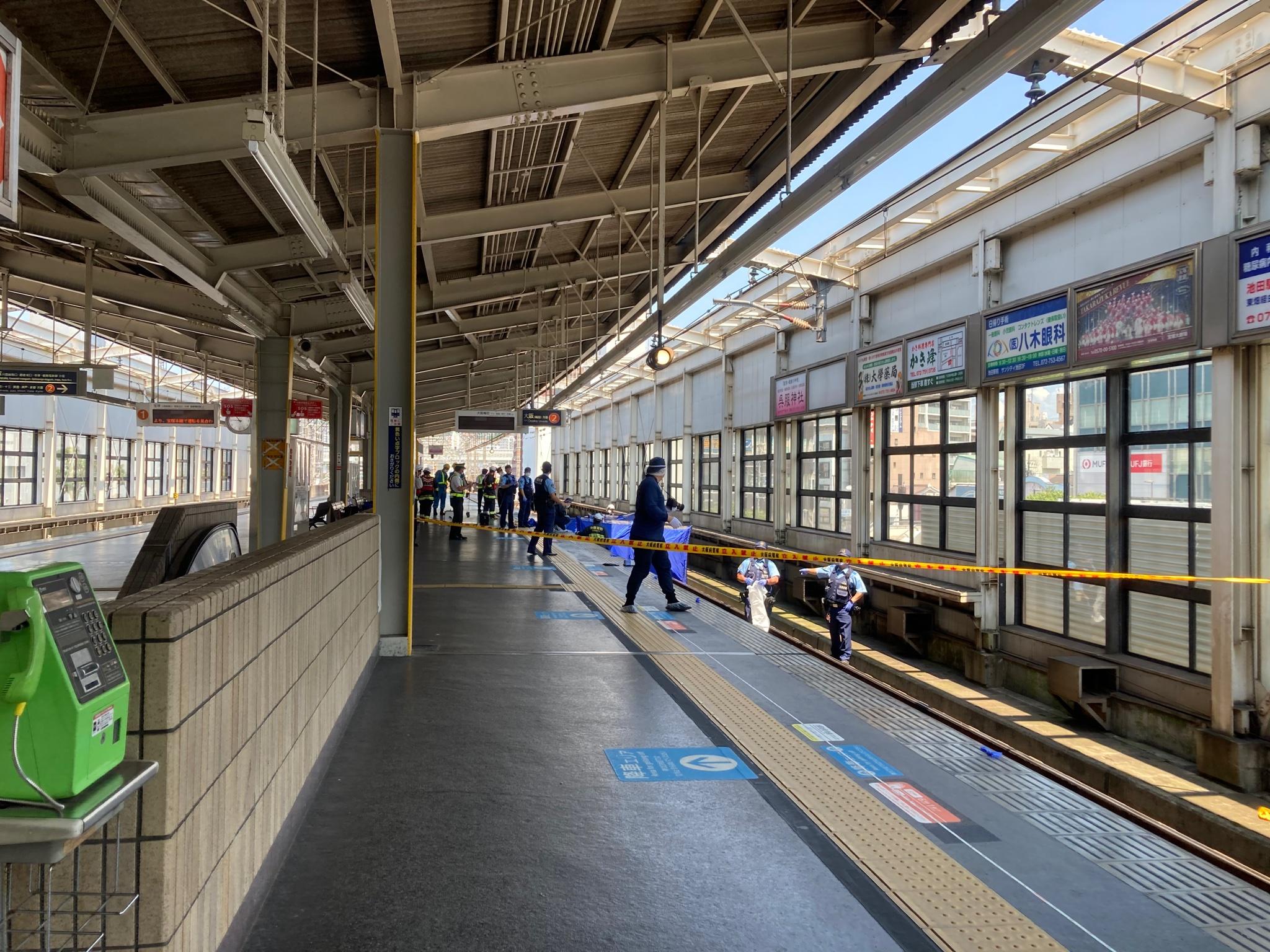 阪急池田駅で人身事故 試運転を撮影していた撮り鉄が落下か