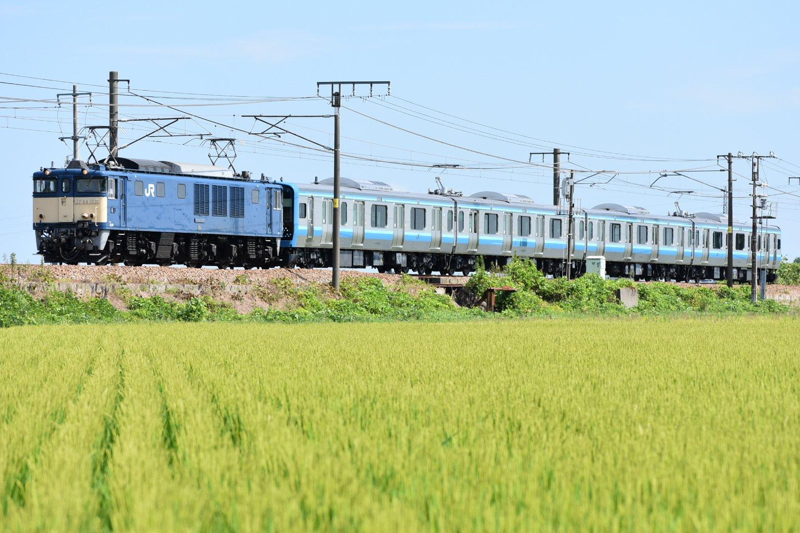 相模線用新型車両E131系500番台G-2編成配給輸送