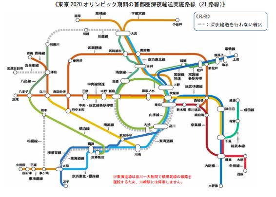 【運転中止】JR東日本 東京オリンピック無観客で終電以降の臨時列車が運休へ