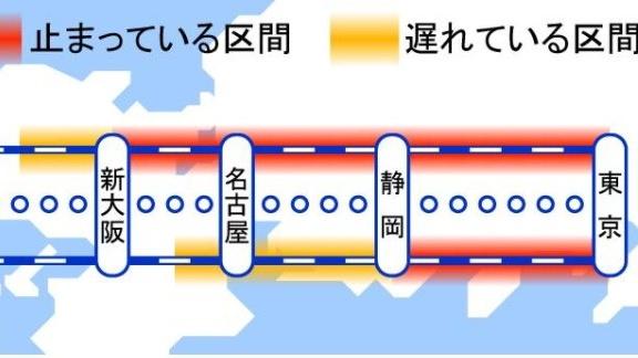 【再開には相当かかる】東海道新幹線で再び土砂流入 全線で運転見合わせ