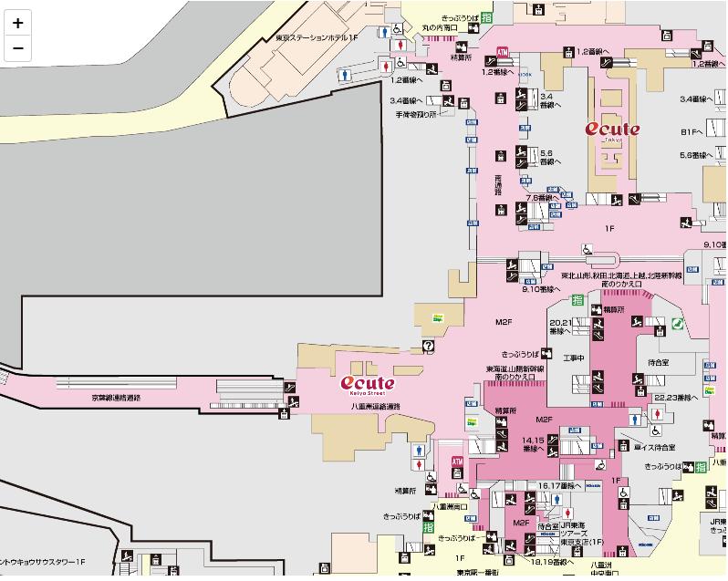 京葉線東京駅の乗り換え方法・有楽町までの徒歩ルートは?