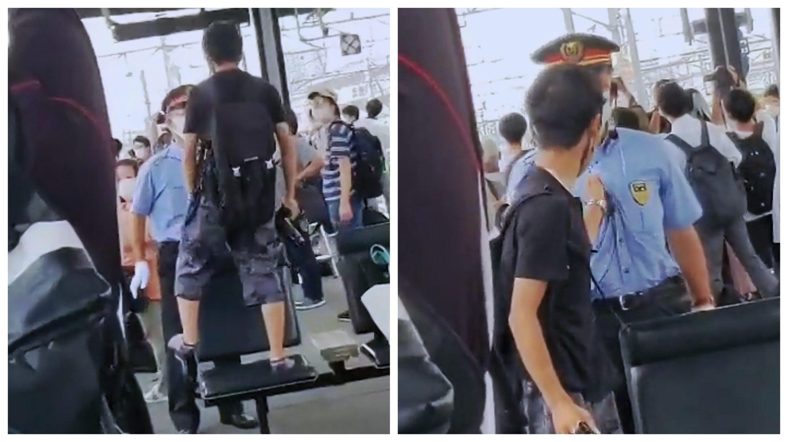 鉄道ファンがベンチの上で撮影 注意した駅員にブチ切れ奇声を上げ暴行 「調子乗るなよおい!」と逃亡
